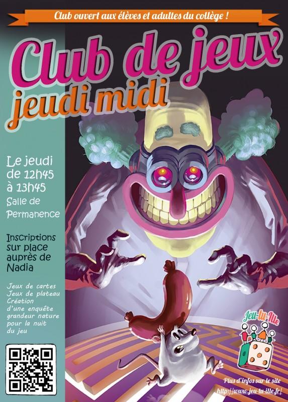 club jeux college 2017-2018
